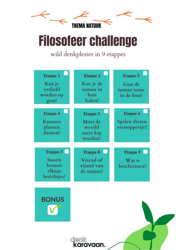 Filosofeer challenge natuur poster A4 1 600x849 - Week van de kinderfilosofie: activiteiten en tips